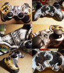 Dovahkiin custom ps3 controller by Joel-Wade