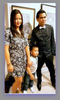 WITH WIFE MINA AND SON ZYRUS by gromyko