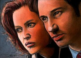 X-files Sketch Card by RandySiplon