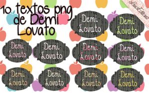 10 textos png de Demi Lovato by LuuciEditions