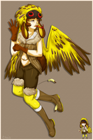 Full Body- Weaver Bird Girl by WanNyanAdopts
