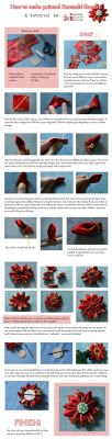 Tutorial - How to make pointed kanzashi flowers by Another-Rose