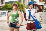 Persona 4 cosplay - Chie and Marie by alandria7