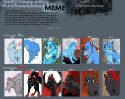 Character Evolution Meme- Blue and Thorn by WindWo1f