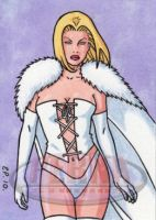 White Queen Sketch Card 2 by ElainePerna
