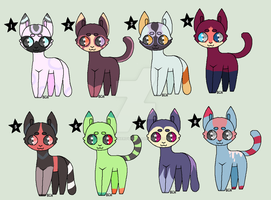 Tiny Cat Adopts -7/8 OPEN- by thatonenerdybroad