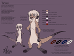Tevoi: ref sheet by Kirsui