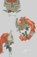 Midna many Midna by Link-artist