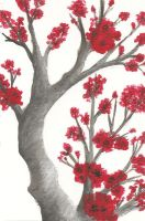 Red Blossom Tree - Postcard 1 by Good-Anime