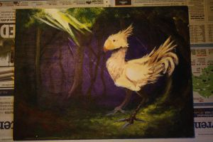 Chocobo in Forest by CamiiW