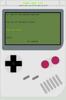 Game Boy CSS by Retro-Specs