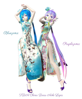 [MMD] TDA China Dress Aoki Lapis (DL) by sutoroberikurimu