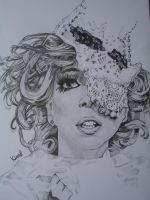 Lady GaGa Lace Mask by KayPee0609