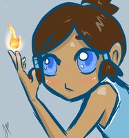 Little Korra by Jhartart