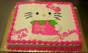 Hello Kitty Cake by zoro-swordsman