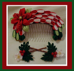 Christmas kanzashi comb set by EruwaedhielElleth