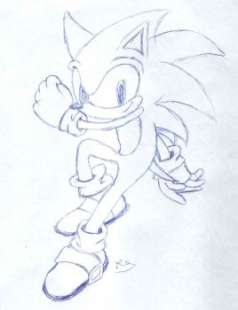 Sonic Rush Sketch by TheBof