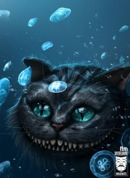 Cheshire Cat Underwater by HjalmarWahlin