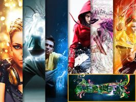 Best 22 Photo Effects Photoshop Actions by CursiveQ-Designs