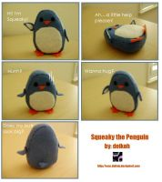 Squeaky the Penguin by deikoh