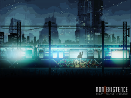 [non]Existence - suburban electric train. by As-Pic