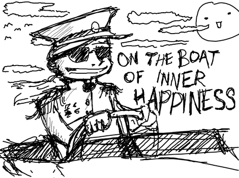 On The Boat of Inner Happiness by SirPete