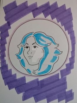 Haunted Mansion, Madame Leota marker sketch by RambleWriting