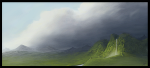 Mountain Study by AlLeTuN