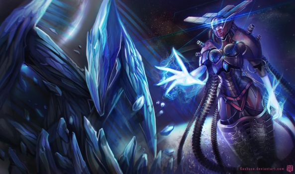 League of Legends_Lissandra_Space Cyborg_Splash by Kashuse