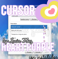 Cursor Heart Purple by luciafdez23