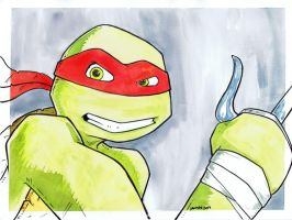 TMNT Watercolor - Raphael by JesseAcosta