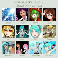 2012 Summary of Art by color-sekai