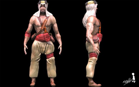 Arabian Warrior-3D by ELHABIBI