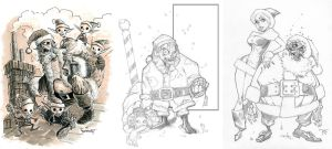 Zombie Santas by RandyGreen