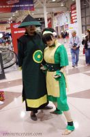 Toph and Dai Li by EminenceRain