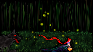 Fireflies warning the Red (Digital Original) by starmoon2208