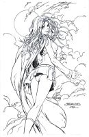 Supergirl In the clouds - Kirkham - Egli - Ink by SurfTiki