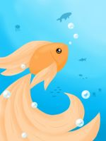 Little goldfish by to-much-a-thing