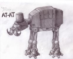 A very fancy AT-AT by Pickledsuicune