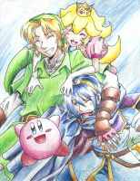 Super Smash Brothers Friends by Rachet777