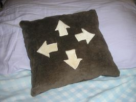 DDR Pillow by knit1purl2