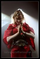 Liv Kristine praying by livephotos