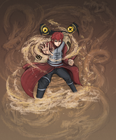 Gaara of the Sand WIP by bulletproofturtleman