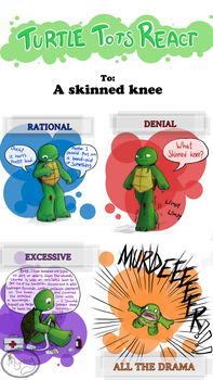 Turtle Tots React - Skinned knee by Myrling