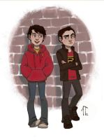 Commission: Billy and Damian by AlyssaTallent
