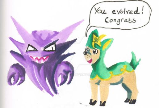 Deerling and Haunter by Ofelas