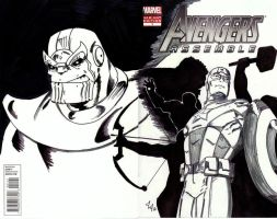Avengers Assemble#1 sketch cvr by Jason-Lee-Johnson