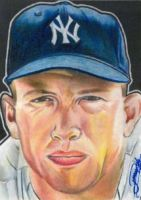 Mickey Mantle by machinehead11