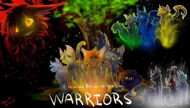 Warriors redraw by Aryll-nya