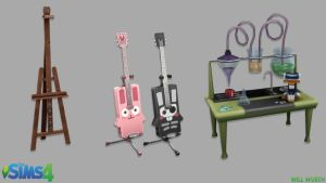 The Sims 4: Hobby Props by DeadXIII